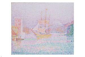 Paul SIGNAC The Harbour AT MARSEILLES Fine Art POSTER 24X36 Impressionist