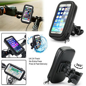 Bike Bicycle Phone Holder Case Handlebar Clamp Pouch Cover For All Apple iPhone