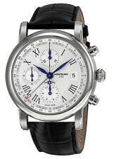 Montblanc Star Chronograph UTC Automatic Men's Leather Watch 107113 - New In Box
