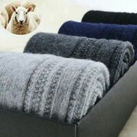 5 Pack Men Wool Cashmere Socks Crew Solid Casual Thick Warm Classic Boot Winter