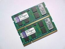 4GB 2x2GB DDR2-800 PC2-6400 KINGSTON 800Mhz LAPTOP RAM MEMORY ARBEITSSPEICHER