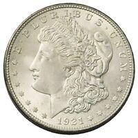 1921 $1 Morgan 90% Silver Dollar GEM BU / Brilliant Uncirculated In Free Capsule