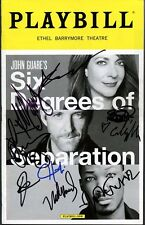 SIX DEGREES OF SEPARATION In-person Cast Signed Playbill w/ ALLISON JANNEY