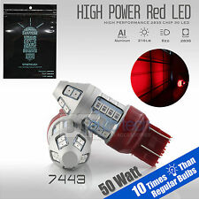 2X 7443/7440 50W Red High Power LED Brake Tail Stop Parking Light Bulbs