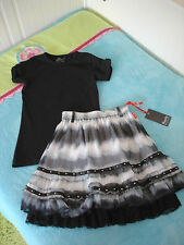 PAMPOLINA RELOAD ROCK Gr. 128 batik NEU + INSCENE SHIRT Gr. 122 128 schwarz TOP!