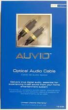 6 Foot Digital Fiber-Optic Toslink Optical Audio Cable ~ Auvio 15-239