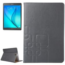 BOOK COVER SMART PER SAMSUNG GALAXY TAB A 9.7 SM-T550 IN PELLE GRIGIO + PENNINO