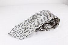 Andrea Garavani Black Gray Silver Necktie 100% Handmade Microfiber