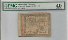 1779 $65 Continental Colonial Currency FR CC-100 January 14 1779 : PMG 40
