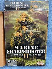 Video Game PC Marine Sharpshooter II Two 2 Jungle Warfare Box 98 ME 2000 XP