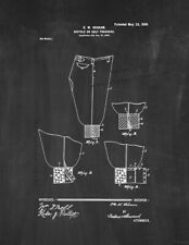 New listing Bicycle Or Golf Trousers Patent Print Chalkboard