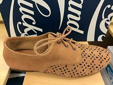 Lucky Brand Dyana Women's Oxfords Loafers Suede Lace Up Shoes Brown