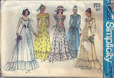 Simplicity Sewing Pattern 6888 Wedding Dress and Bridesmaid Dress Size 14 70's