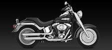 2007-2017 V&H Chrome Twin Slash Exhaust: HARLEY Fat Boy, Fatboy Low, Deuce 16843