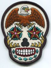 EAGLE SUGAR SKULL dia de los muertos IRON-ON PATCH **FREE SHIPPING** y ph502