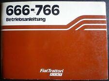 FIAT TRATTORI 666 + 766 manuale