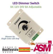 LED Dimmer DC 24V 12V 8A Light Bright Adjustable Single Color LED Controller