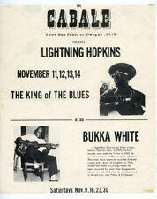 Lightnin Hopkins, Bukka White 1963 UC Berkeley Blues Poster California J6901
