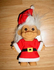 "5""-Boys Girls Russ Christmas Santa Outfit Clothes White Hair Troll Toy Doll"