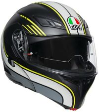 CASCO MOTO MODULARE AGV COMPACT ST PINLOCK BOSTON BLACK GREY YELLOW FLUO TG XS
