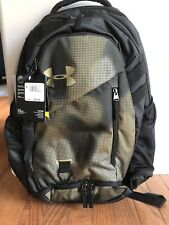 NWT Under Armour UA Hustle 4.0 Backpack Khaki / Green Camo Bag Laptop School