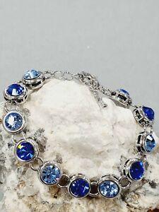 Glitzerndes Damen Armband Swarovski blau