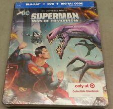 New! Superman: Man of Tomorrow (Blu-ray/Dvd/Digital Steelbook Set, 2020)