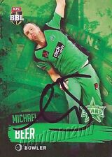 ✺Signed✺ 2015 2016 MELBOURNE STARS Cricket Card MICHAEL BEER Big Bash League