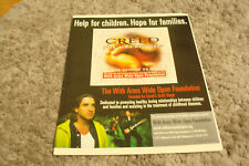 """Creed 2001 ad for hit """"With Arms Wide Open"""" Scott Stapp, Mark Tremonti"""