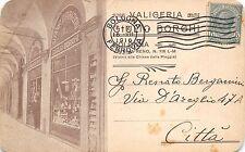 8927) BOLOGNA VETRINE DELLA VALIFERIA GIULIO BORGHI VIAGGIATA NEL 1916