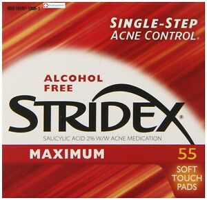 Stridex Maximum Strength Medicated Pads 55 Count for acne