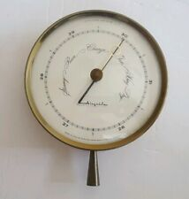 Mid Century Airguide Brass & Glass Replacement Barometer