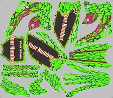 2006-2008 Kawasaki KX250f KX 250f Graphics kit Decal dirt bike snake skin