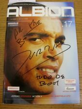 22/12/2001 Autographed Programme: West Bromwich Albion v Sheffield Wednesday - H