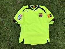 NIKE T90 FCB Messi Soccer Jersey Mens Sz Medium Neon Green #19 LFP Patch EUC