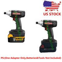 2-IN-1 Craftsman 19.2V Tool Adapter Uses Dewalt 20V&Milwaukee M18 Li-ion Battery