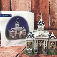 Dept 56 Snow Village Town Hall With Box Retired Christmas Village Building