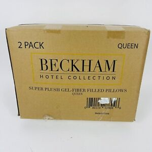 Beckham Hotel Collection Bed Pillows for Sleeping Queen Size Set of 2 Luxury Gel