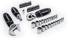 Husky 46 Piece Stubby Multi Purpose Ratchet Socket Wrench Screwdriver Tool Set