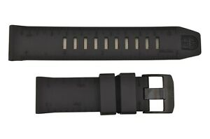 Genuine  Luminox Recon II Nav 8840 8830 23mm Black Rubber Watch Band Strap