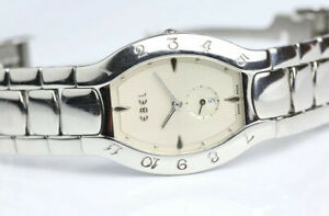Ebel Lichine Tonneau Ladies Watch, Champagne Dial, 9012431