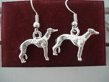 Greyhound/Galgo Silver Plated Earrings - Please help The Blue Greyhound!
