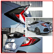 Matte Black For Honda Civic 10th X Hatchback High DTO V Type Trunk Spoiler Wing