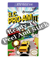RC Pro Am 2 Nes Cartridge Replacement Game Label Sticker Precut