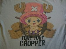 Shonen Jump One Piece Tony Tony Chopper Grey Anime Manga T Shirt Adult M