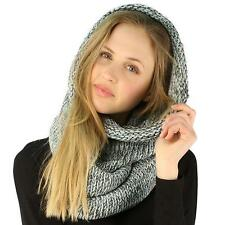 Winter Chunky Long Pullover Knit Single Loop Tube Infinity Hood Cowl Scarf Mint