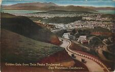 DB Postcard CA G540 Golden Gate from Twin Peak Boulevard San Francisco Aerial