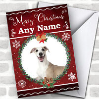 Whippet Dog Traditional Animal Personalized Christmas Card