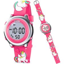Kids Digital Watch For Girl Cute 3D Unicorn Silicone Strap Perfect Birthday Gift