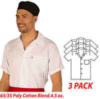 HiLite Cook Shirt, Short Sleeve, 65/35 Poly/Cotton Blend 4.5 oz 430WH